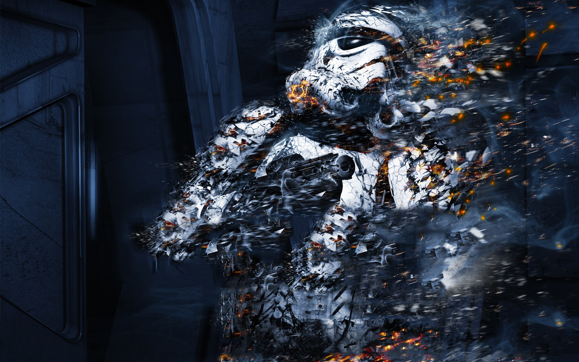 Star Wars The Force Unleashed Stormtrooper   Desktop Wallpaper 1920x1200