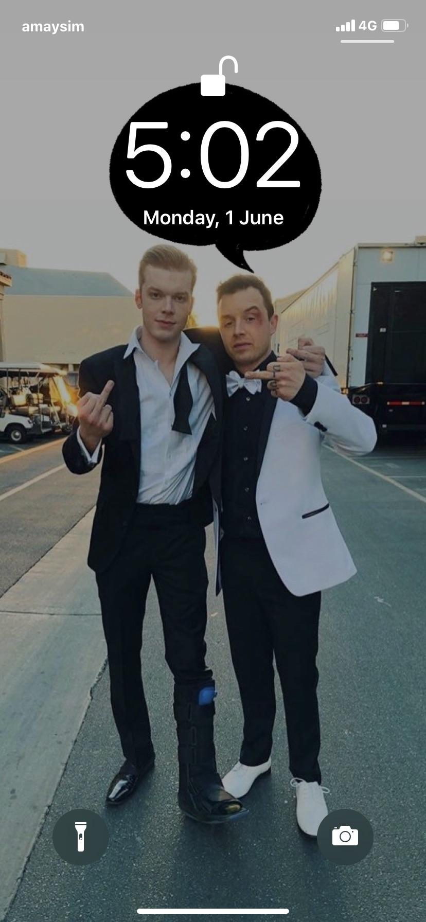 Gallavich Wallpaper   I see the boys flipping me off and it stops 828x1792