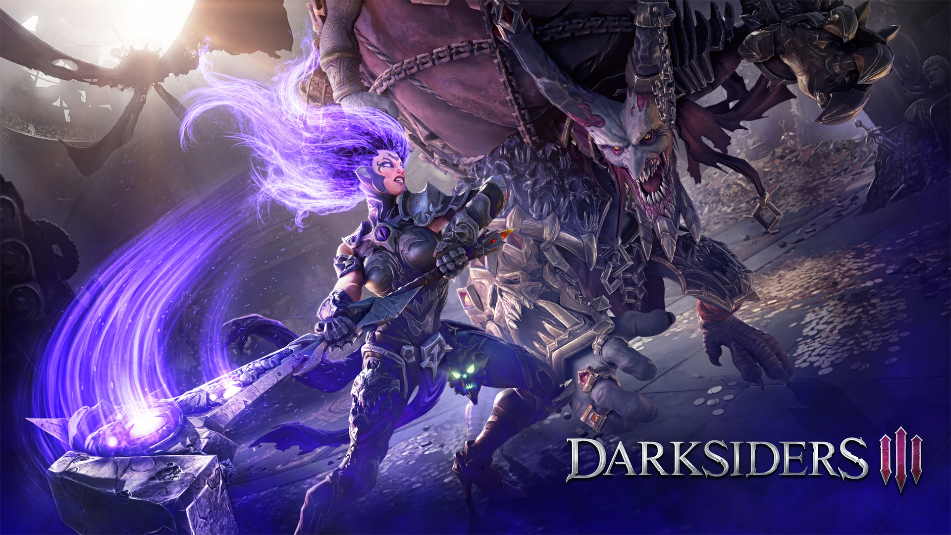 Fury against demon Wallpaper from Darksiders III   gamepressurecom 1920x1080