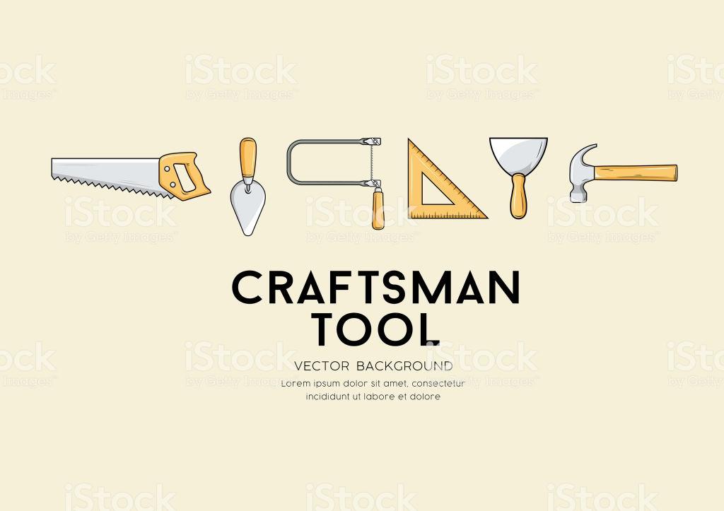 Vector Craftsman Tool Design Background Stock Vector Art More 1024x723