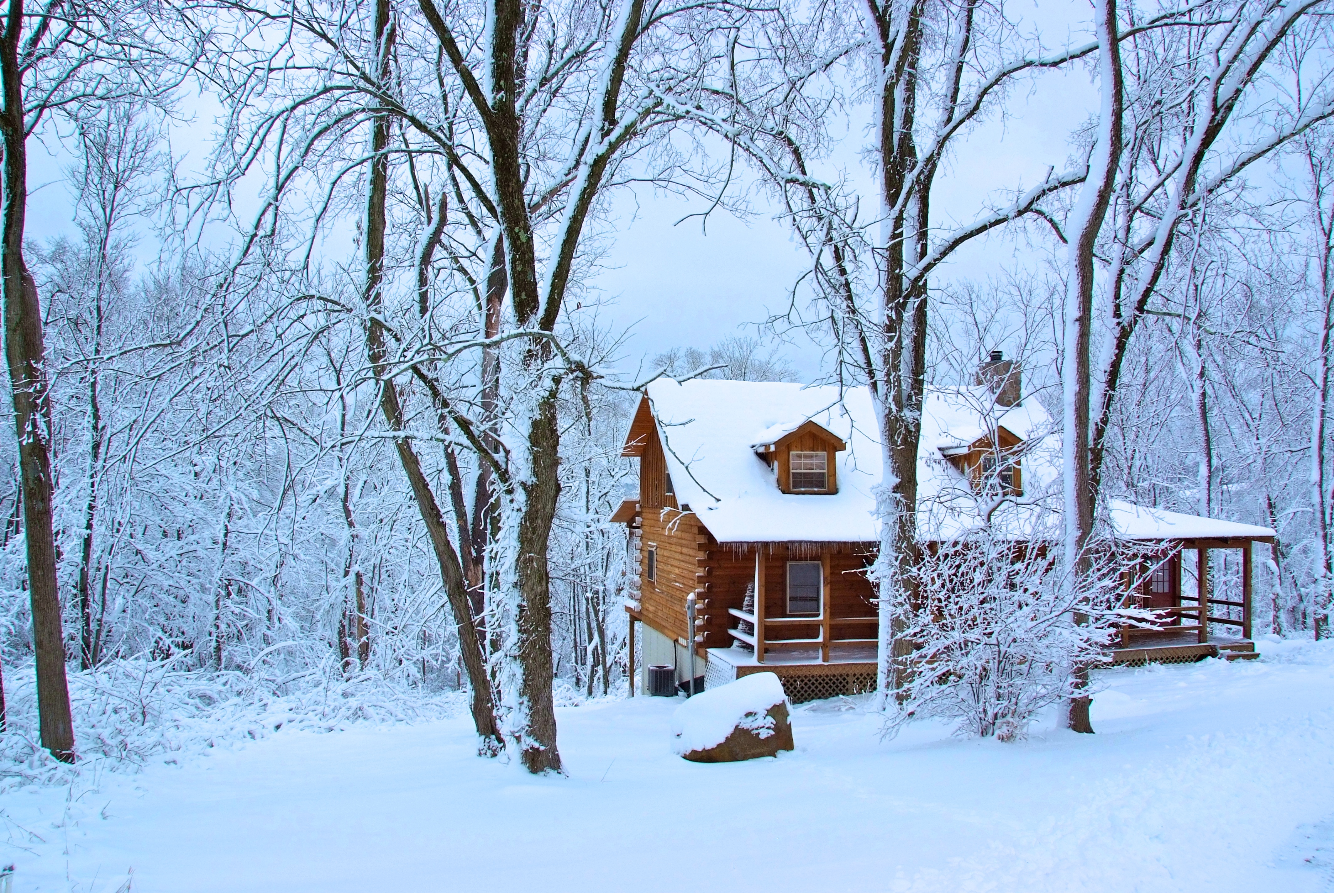 Log cabin winter wallpapers wallpapersafari