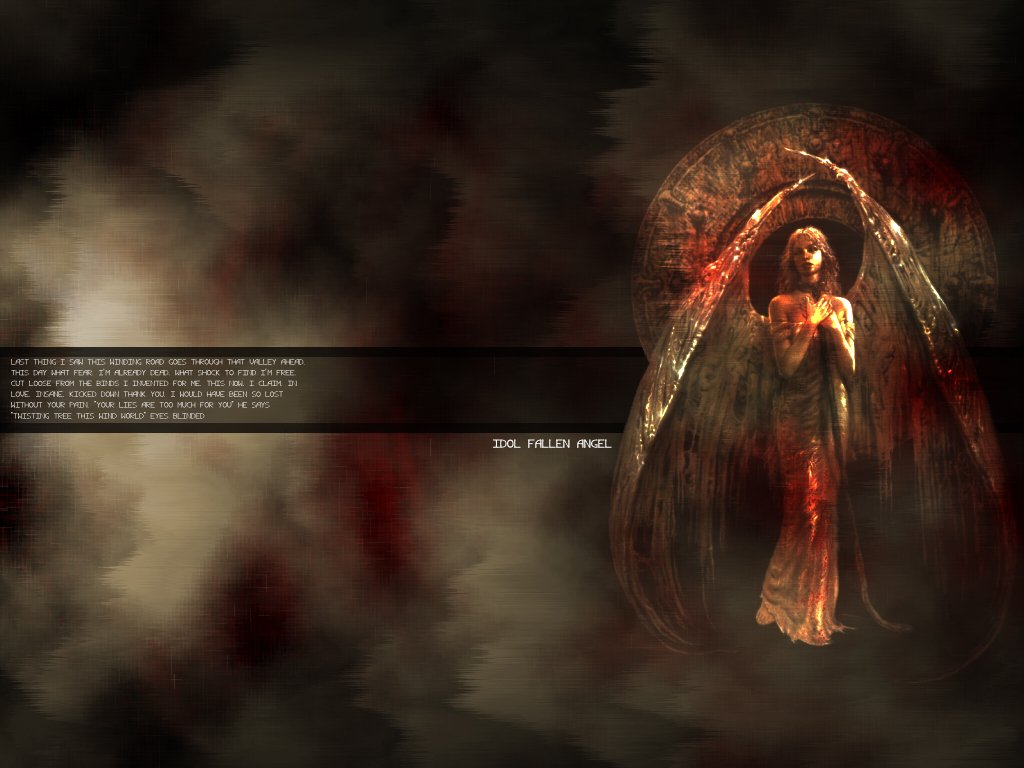 Gothic Wallpapers   Download Idol Fallen Angel Wallpapers Photos 1024x768