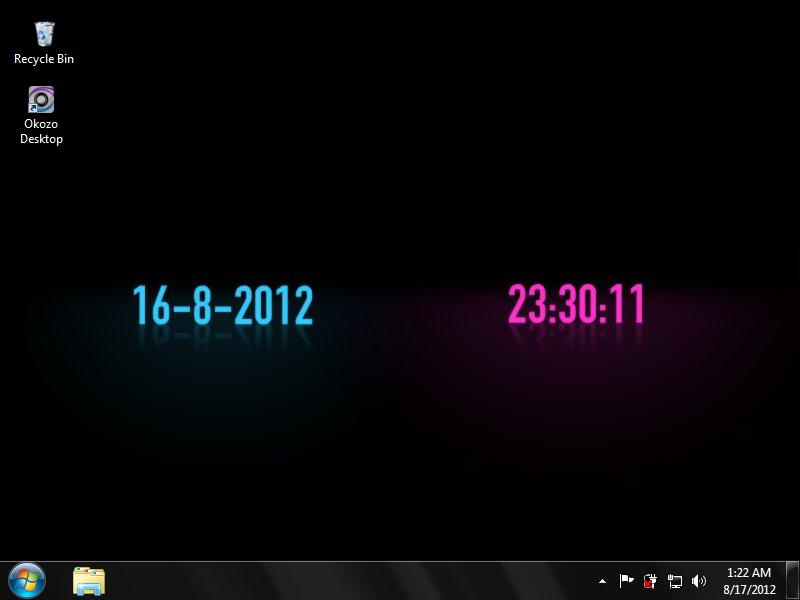 Animated Clock Wallpaper Desktop Themes 372775png 800x600