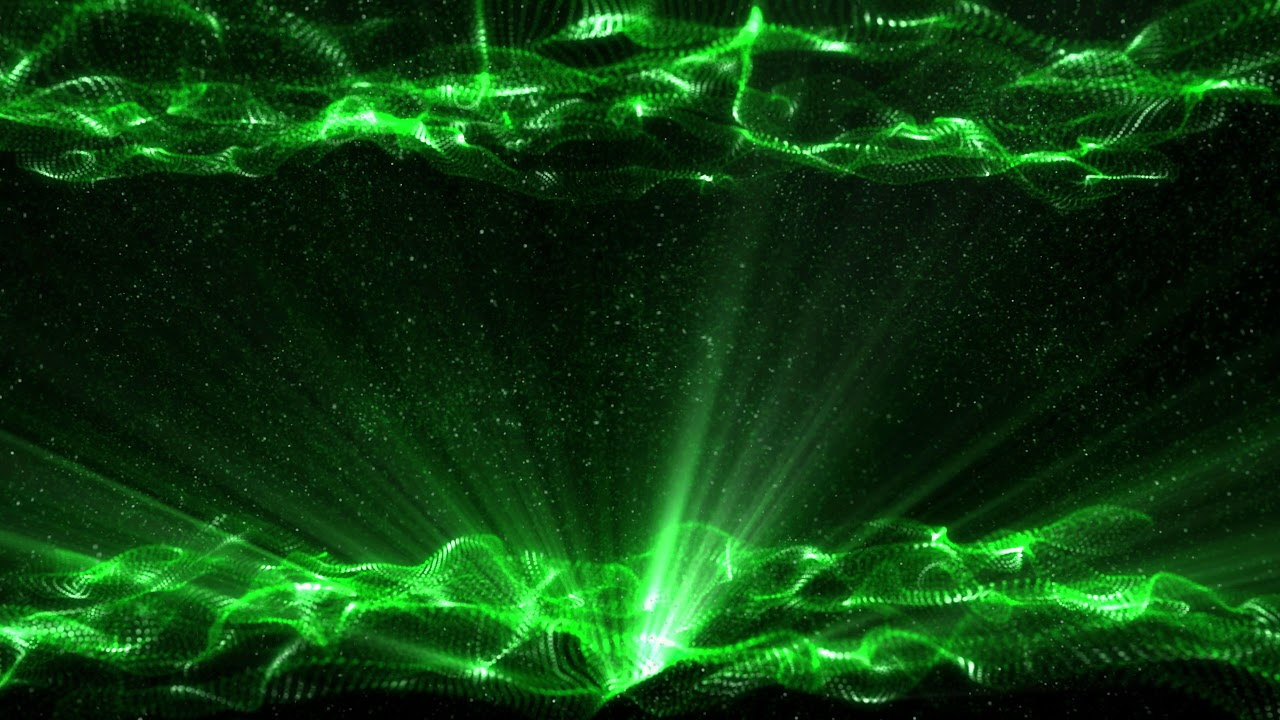 4K Green Waves   Moving Background Title AAVFX Live Wallpaper 1280x720