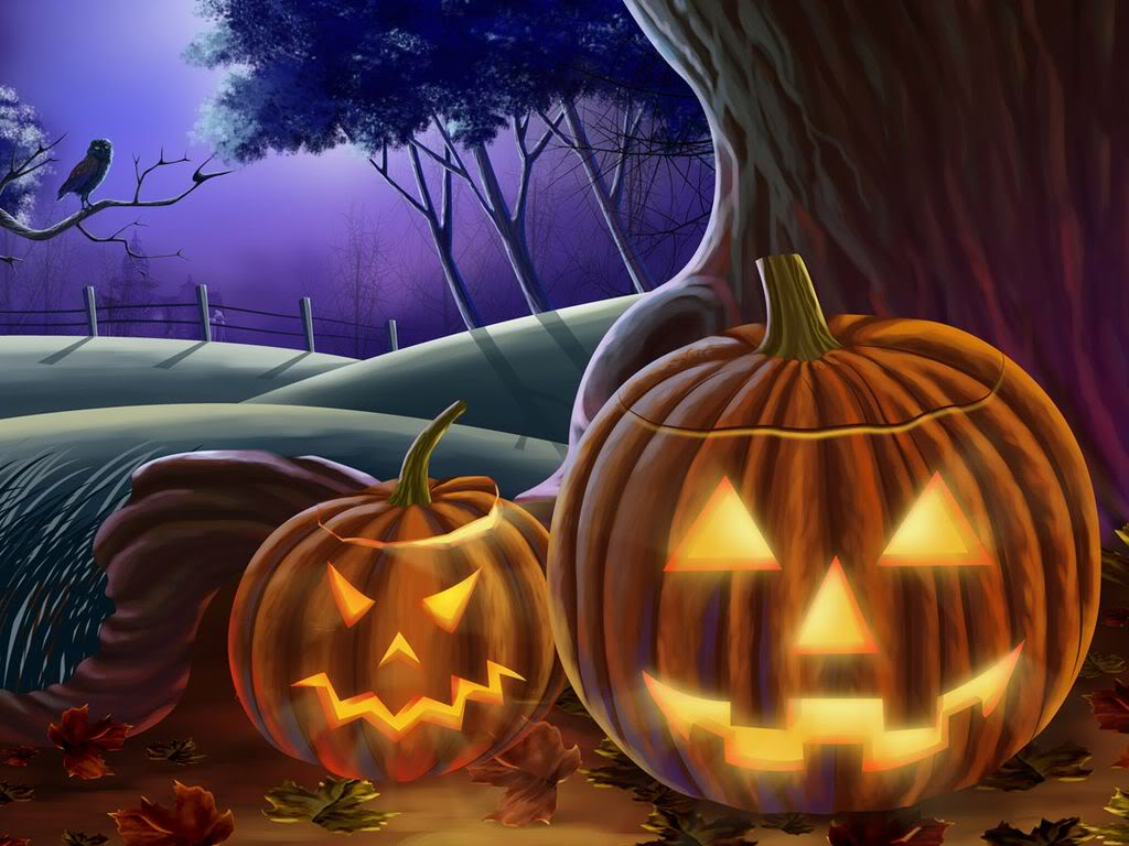 Halloween Wall Papers and Flash Templates Download 1024x768