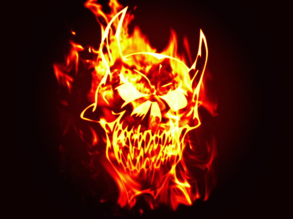 Fire Skull Wallpapers