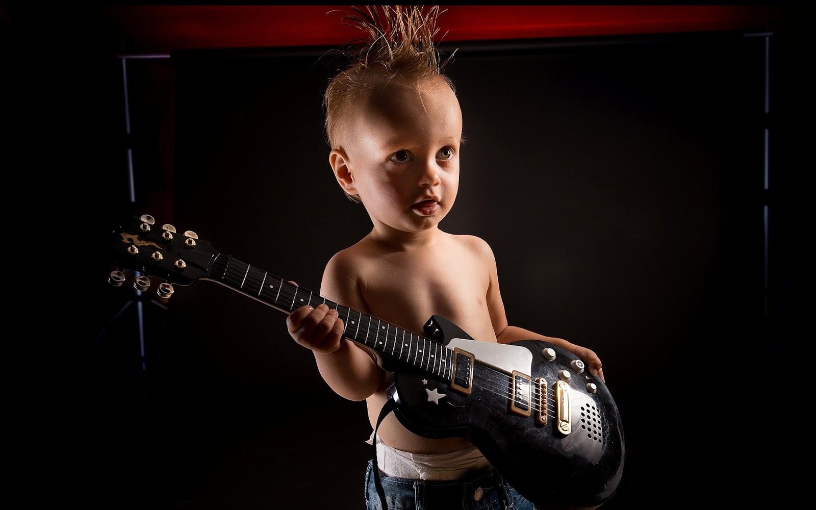 cute baby Cute Little Rock Baby With Gitar HD Wallpaper 1600x1000