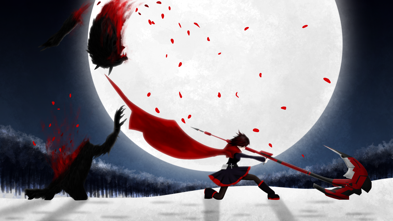 Red RWBY Wallpaper by StylishKira 1366x768