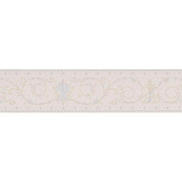 451 1641 Burgundy Fleur De Lis Scroll   Brewster Wallpaper Borders 600x600