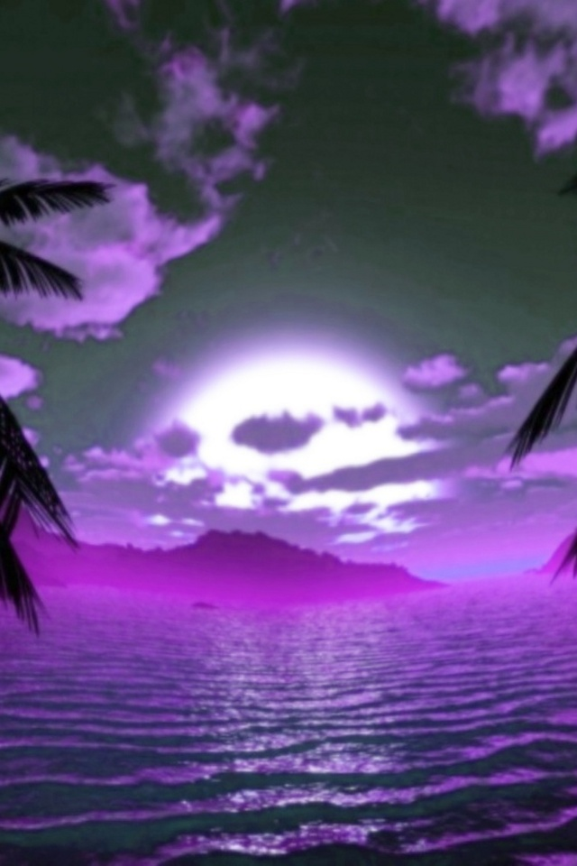 Purple Sunset download wallpaper for iPhone 640x960