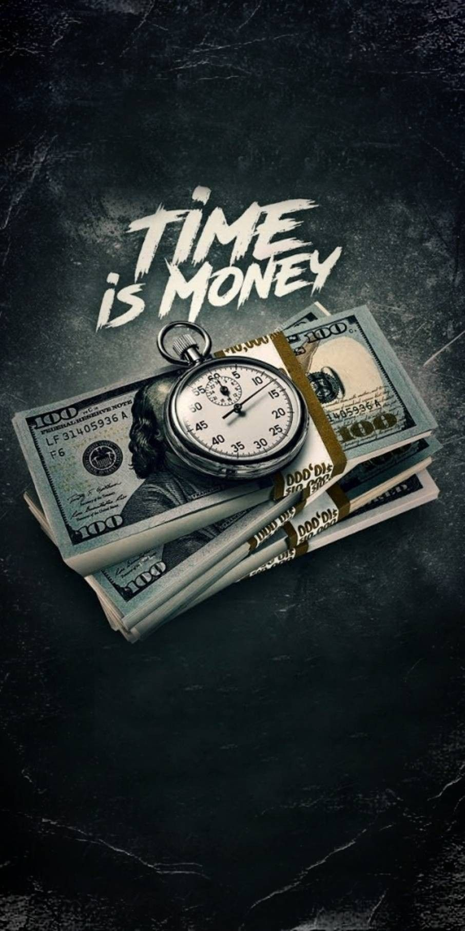 Time Is Money in 2020 Money wallpaper iphone Money tattoo Cool 906x1812