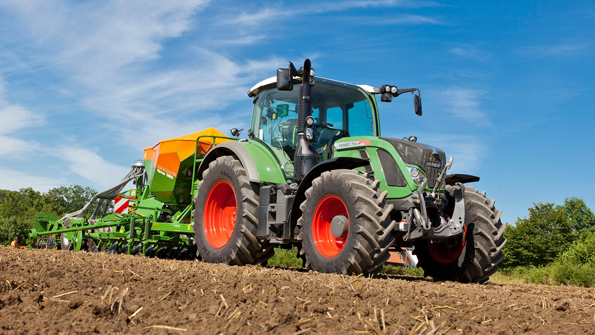Image Agricultural machinery Tractor 2011 17 Fendt 714 1920x1080 1920x1080