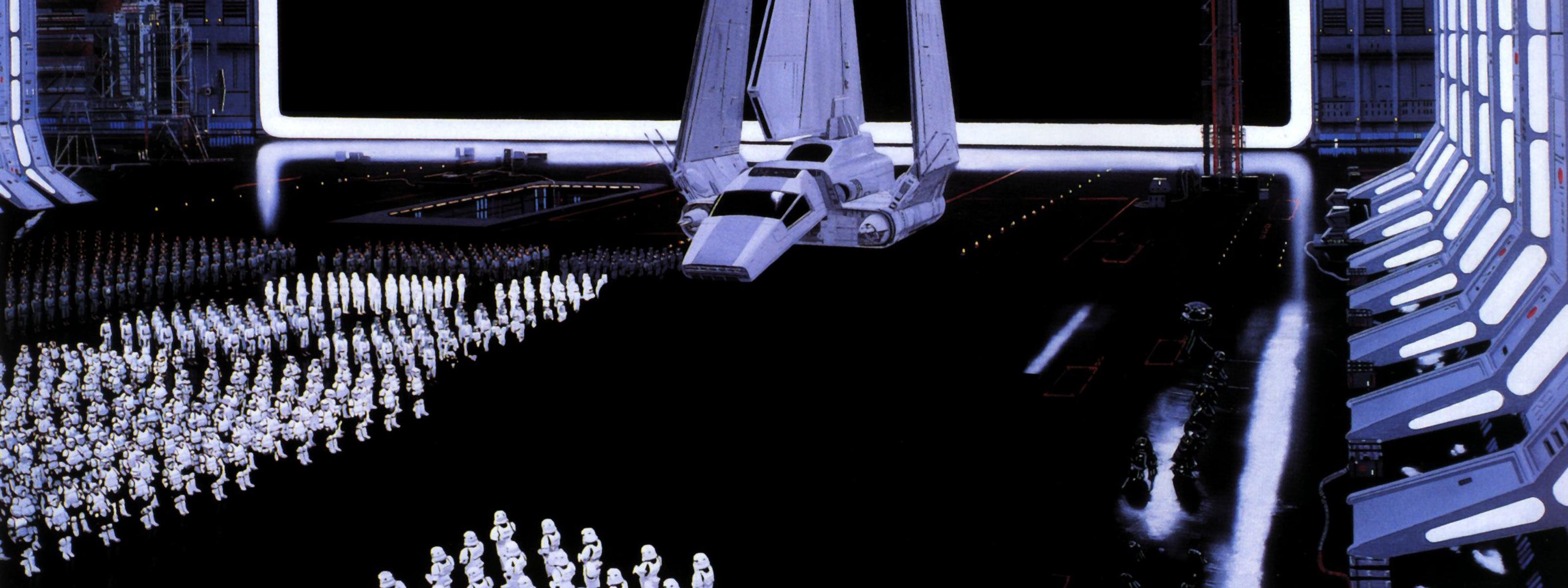 Star Wars Death Star Storm Trooper Imperials wallpaper 3200x1200 3200x1200
