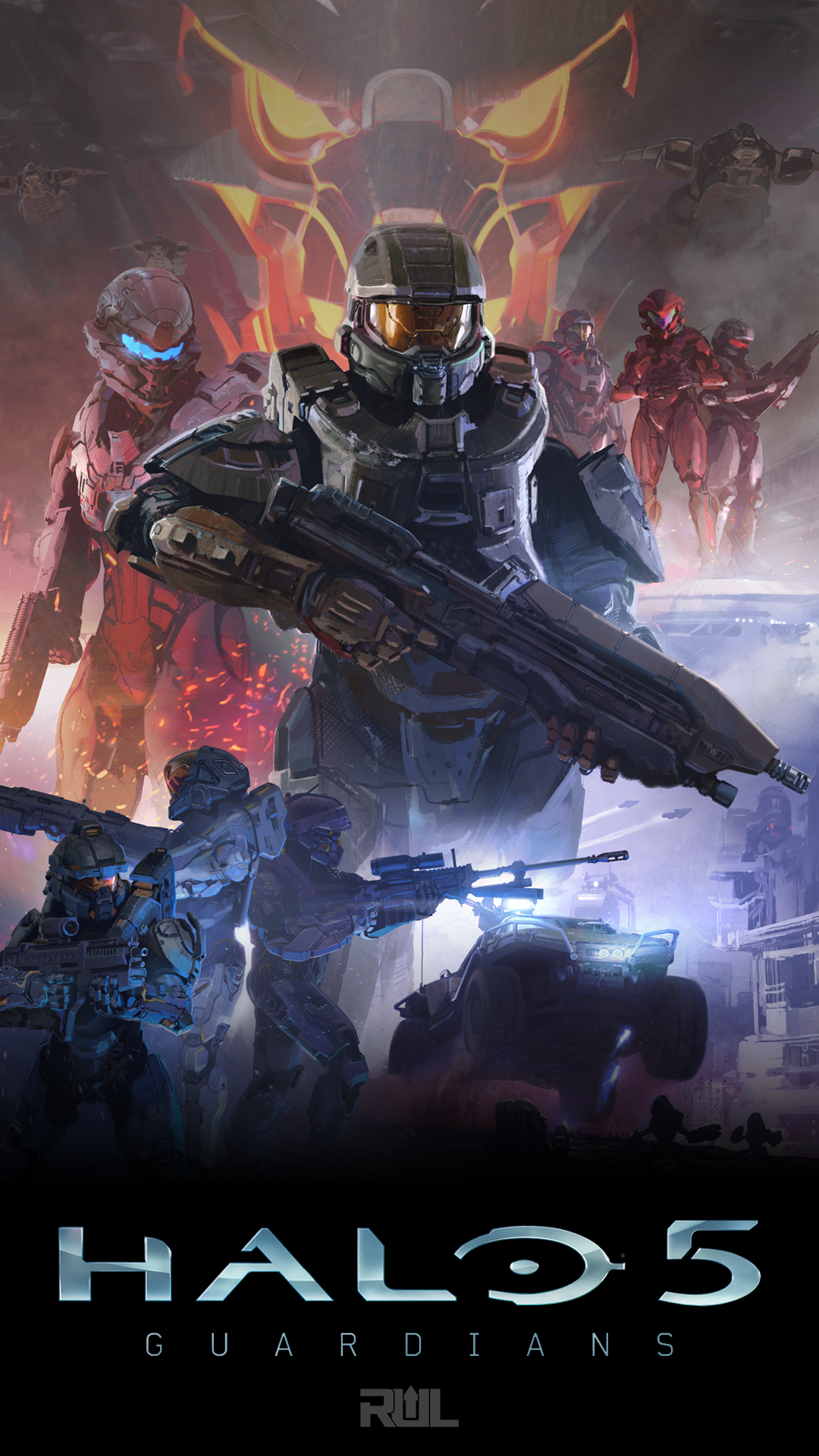 Halo 5 Phone Wallpapers Profile Pics and More Ready Up Live 1080x1920
