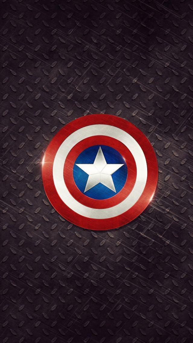 Captain America Logo iPhone 5s Wallpaper Download iPhone 640x1136