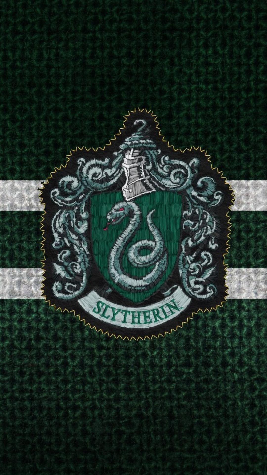slytherin wallpapergreenemblemcappatternheadgear 1006019 1080x1920