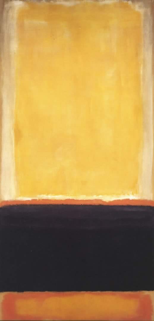 Yellow Charcoal Brown   Mark Rothko Paintings Wallpaper Image 518x1080