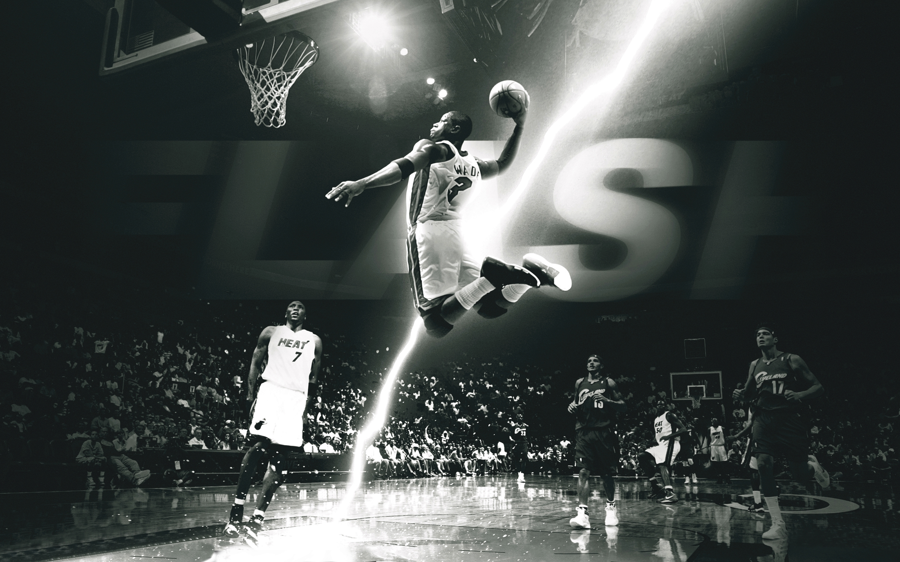 Dwyane wade basketball lightning team jumping photo hd wallpaper 2880x1800