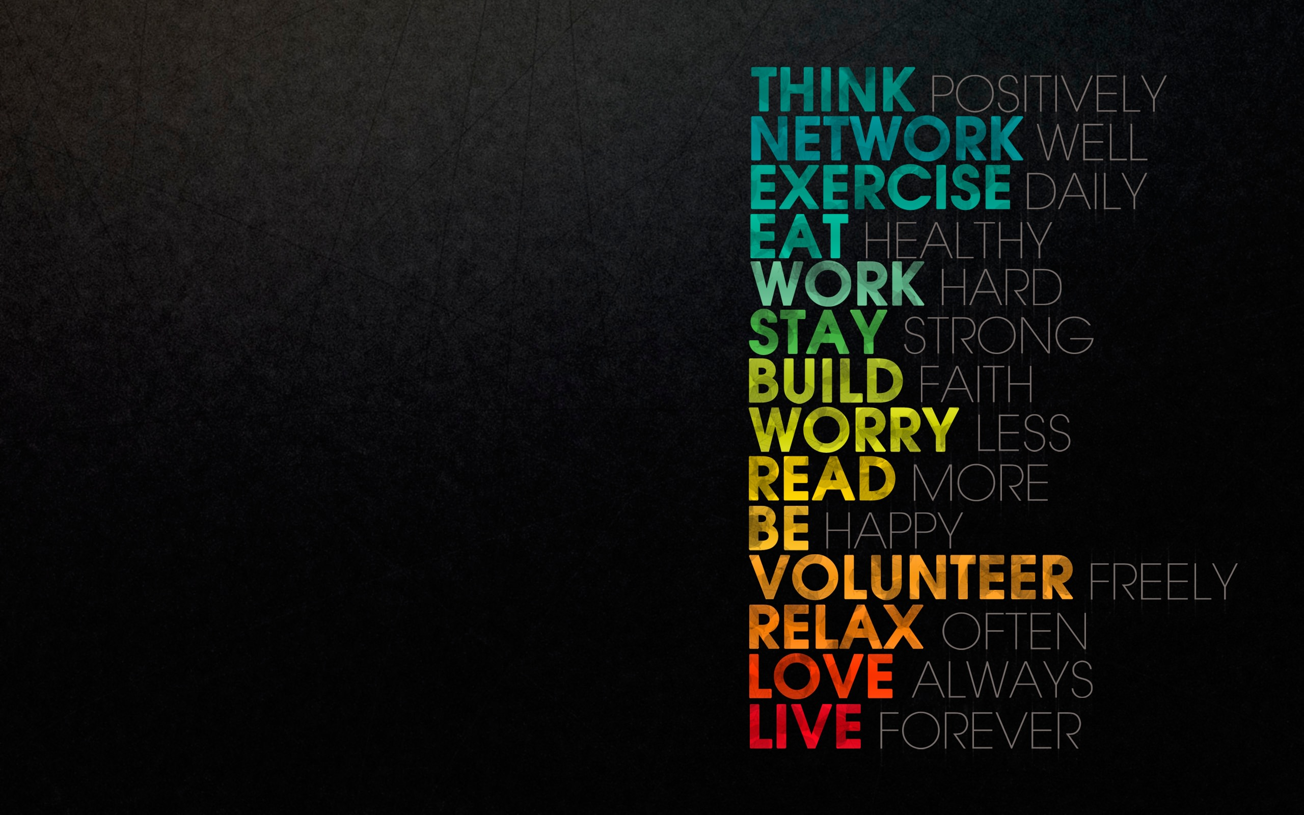 Inspirational Typography HD Wallpapers for Desktop iPhone and Android 2560x1600