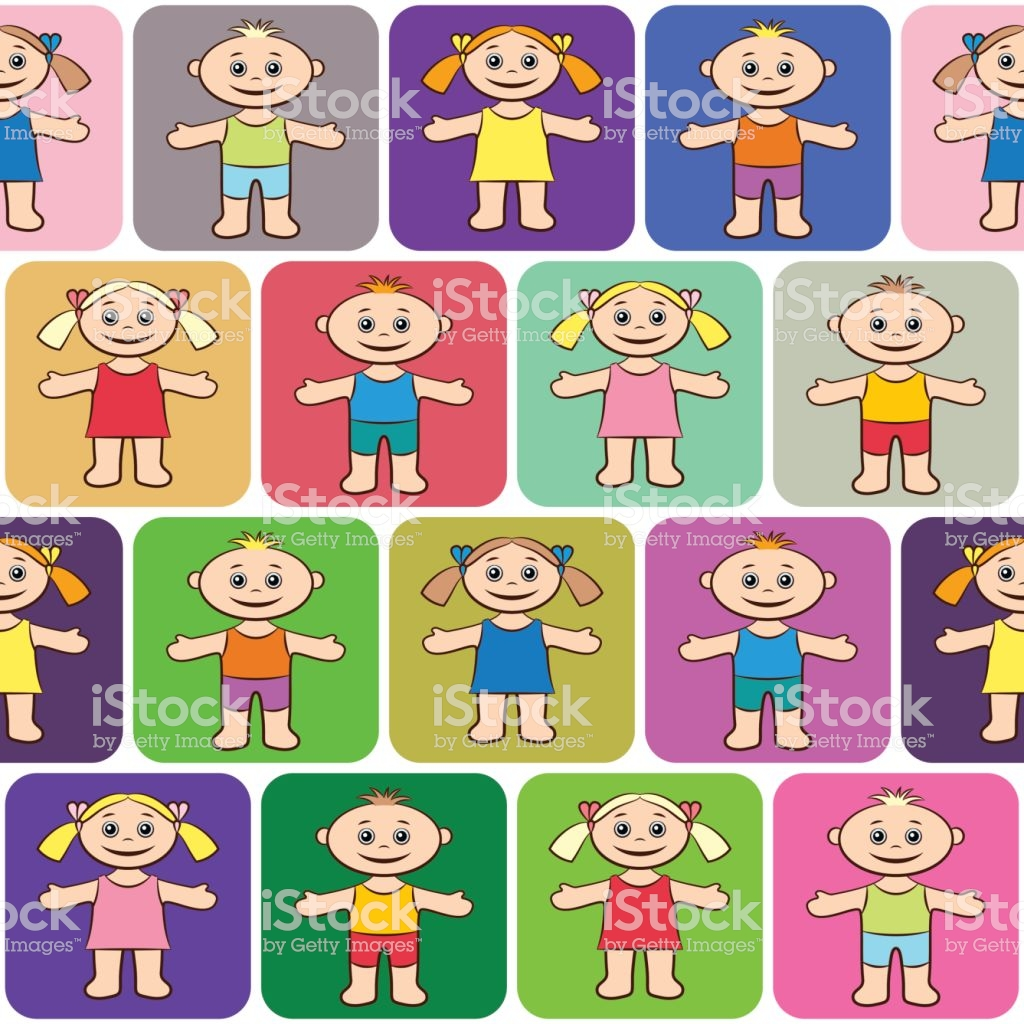 Seamless Background Children Stock Vector Art More Images of 1024x1024