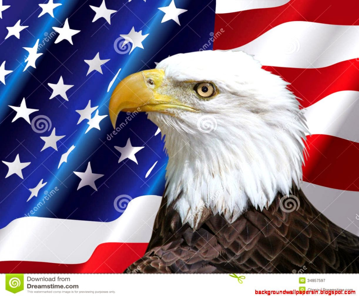 Free Download Bald Eagle With American Flag Wallpaper American