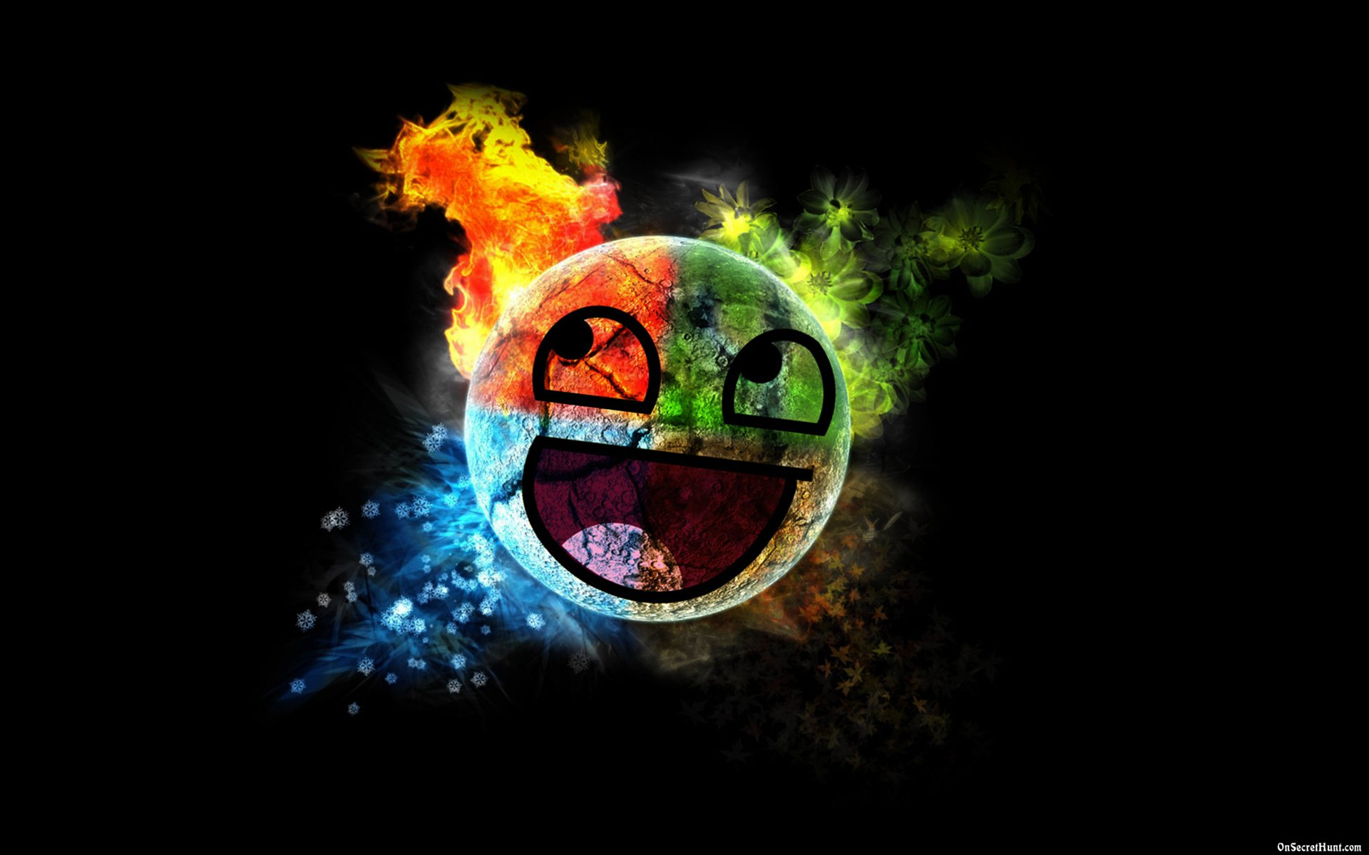 Awesome Smiley Face Wallpapers 1920x1200