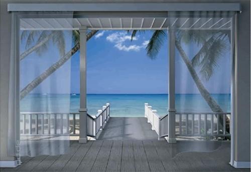 Patio Ocean View Wallpaper Wallpapersafari