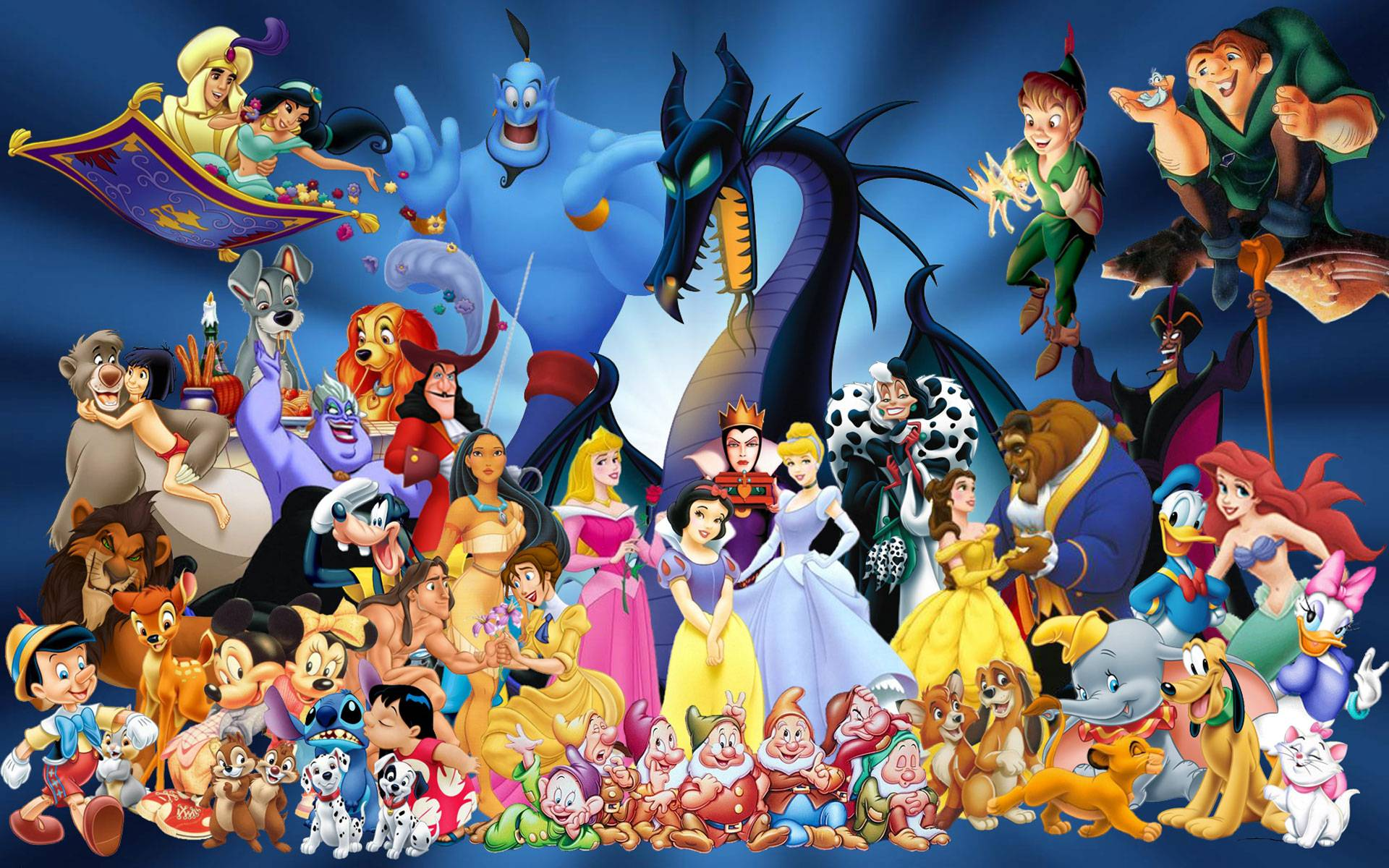 Disney Characters The most popular Disney characters 1920x1200
