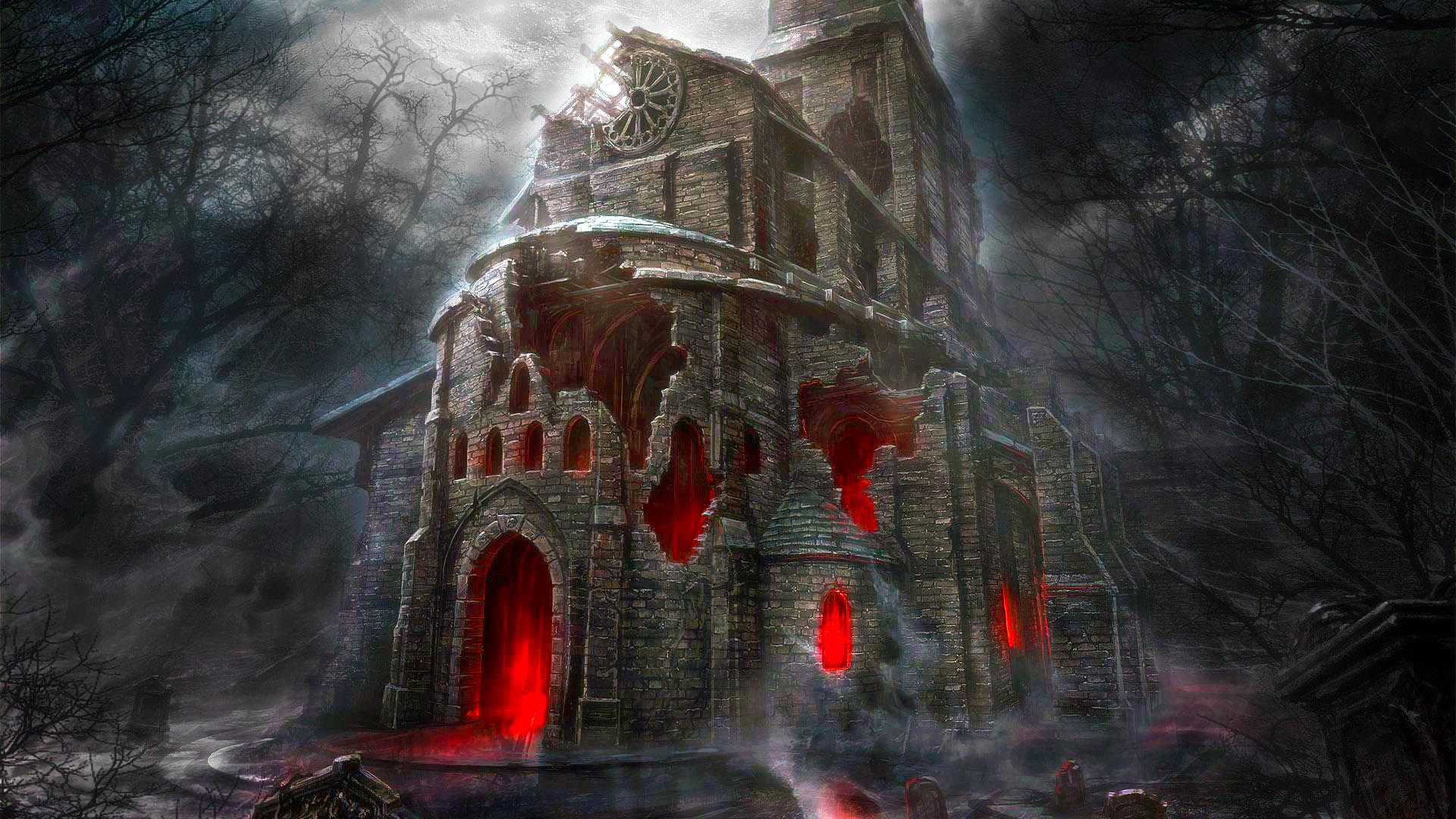 Hd wallpaper horror - Halloween Horror House Hd Wallpaper Stylish Wallpapers