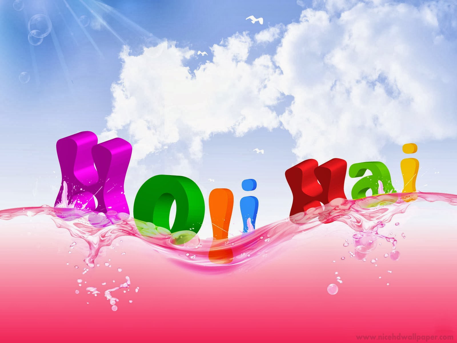 Happy Holi 2014 Animated 3D wallpapers Download Happy Holi 1600x1200