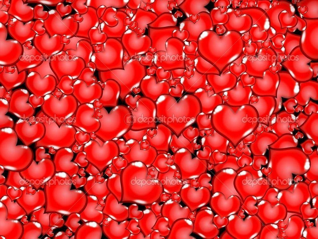 Red Heart Love Wallpaper: Red Love Heart Background