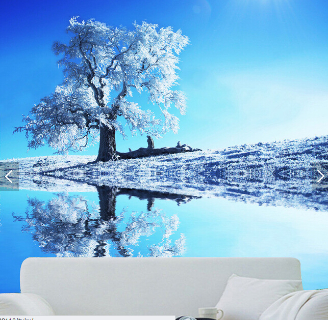Custom nature wallpaper winter scenery for the living room bedroom TV 643x629