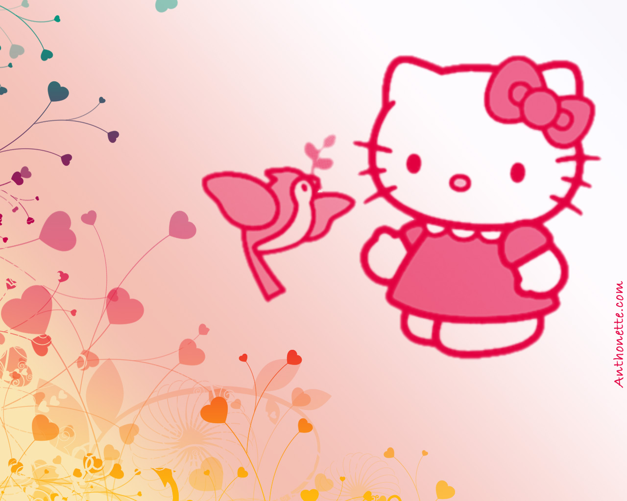 Desktop Wallpaper Pink Hello Kitty Desktop Wallpapers 1280x1024