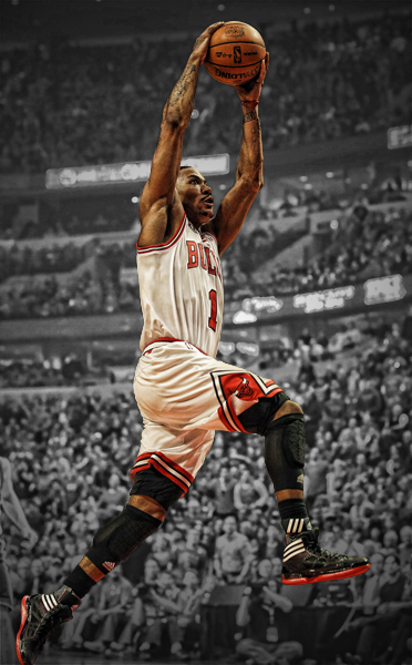 Derrick Rose Wallpaper 1 Small Photo DerrickRoseBW 2Smallpng 372x600