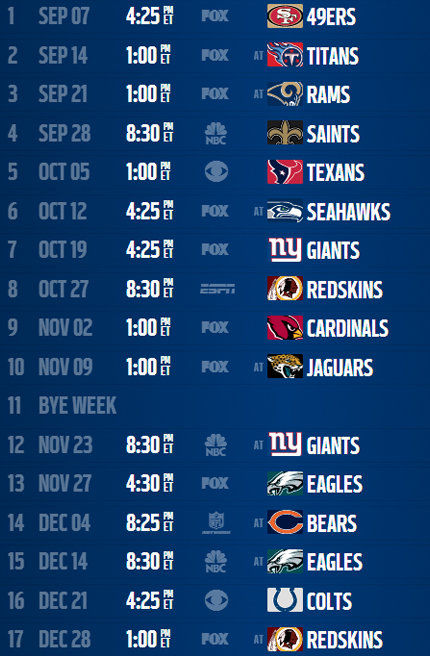 Printable 2015 Dallas Cowboys Schedule Online Calendar Site 430x656
