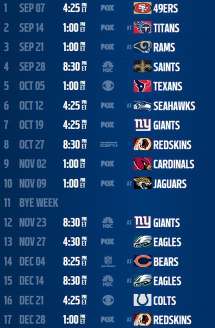 Printable 2015 Dallas Cowboys Schedule Online Calendar Site 430x656
