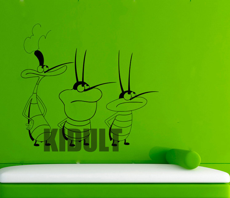 Oggy and Cockroaches Xiaoqiang Fat Cat Wall Decals Vinyl Wall 800x687