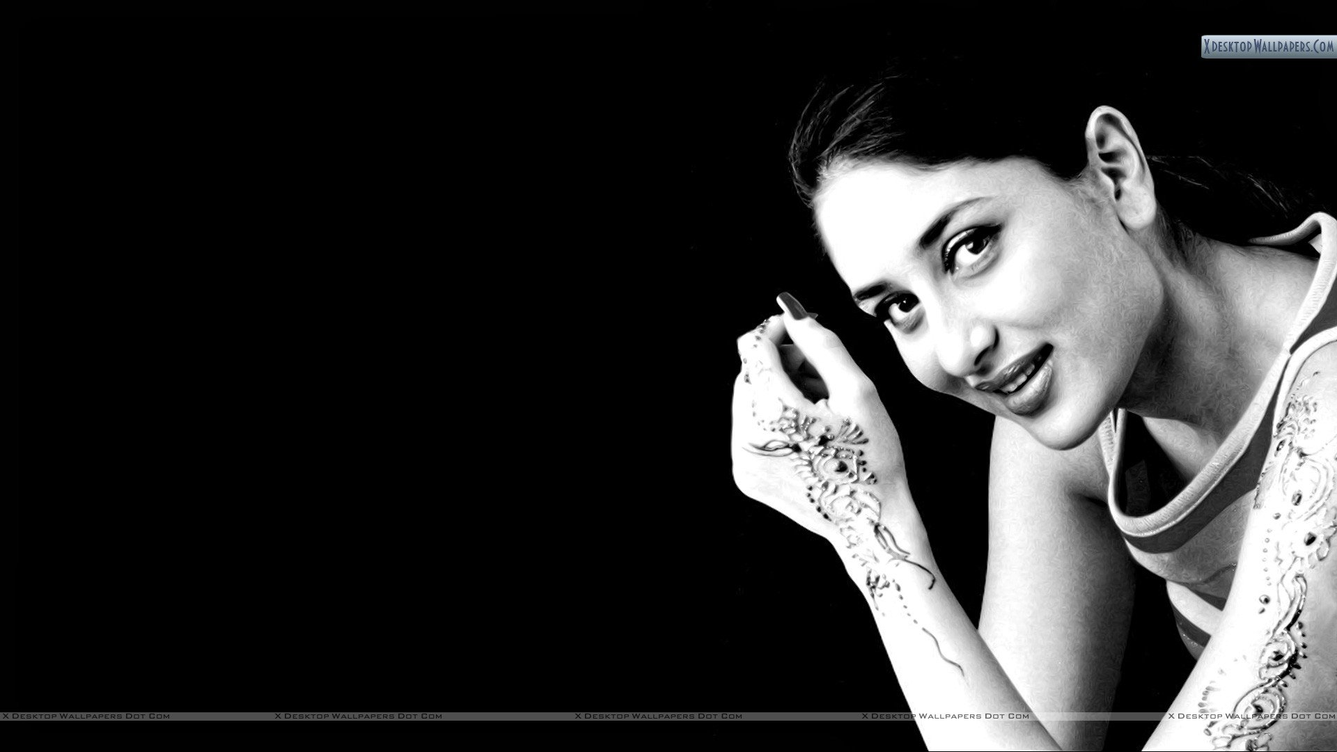 Kareena Kapoor Black And White wallpaper   284700 1920x1080