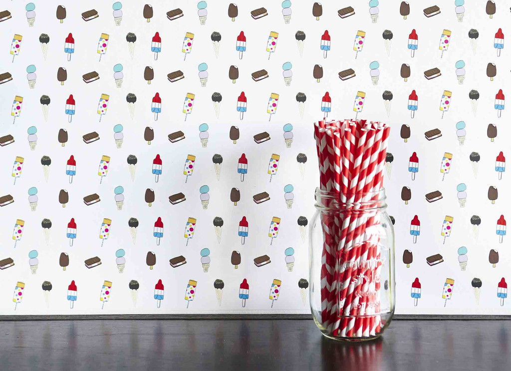 cool peel and stick wallpaper by Alessandra Olanow at Chasing Paper 1024x743