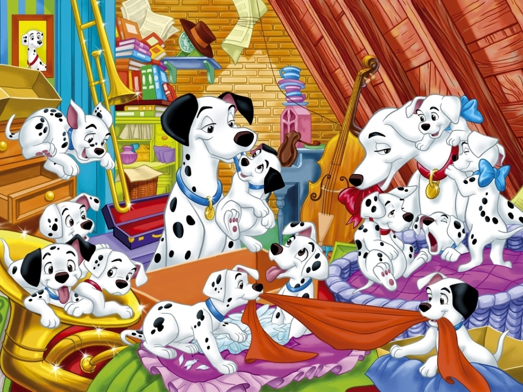 Classic Disney images 101 Dalmations Wallpaper HD wallpaper and 1024x768