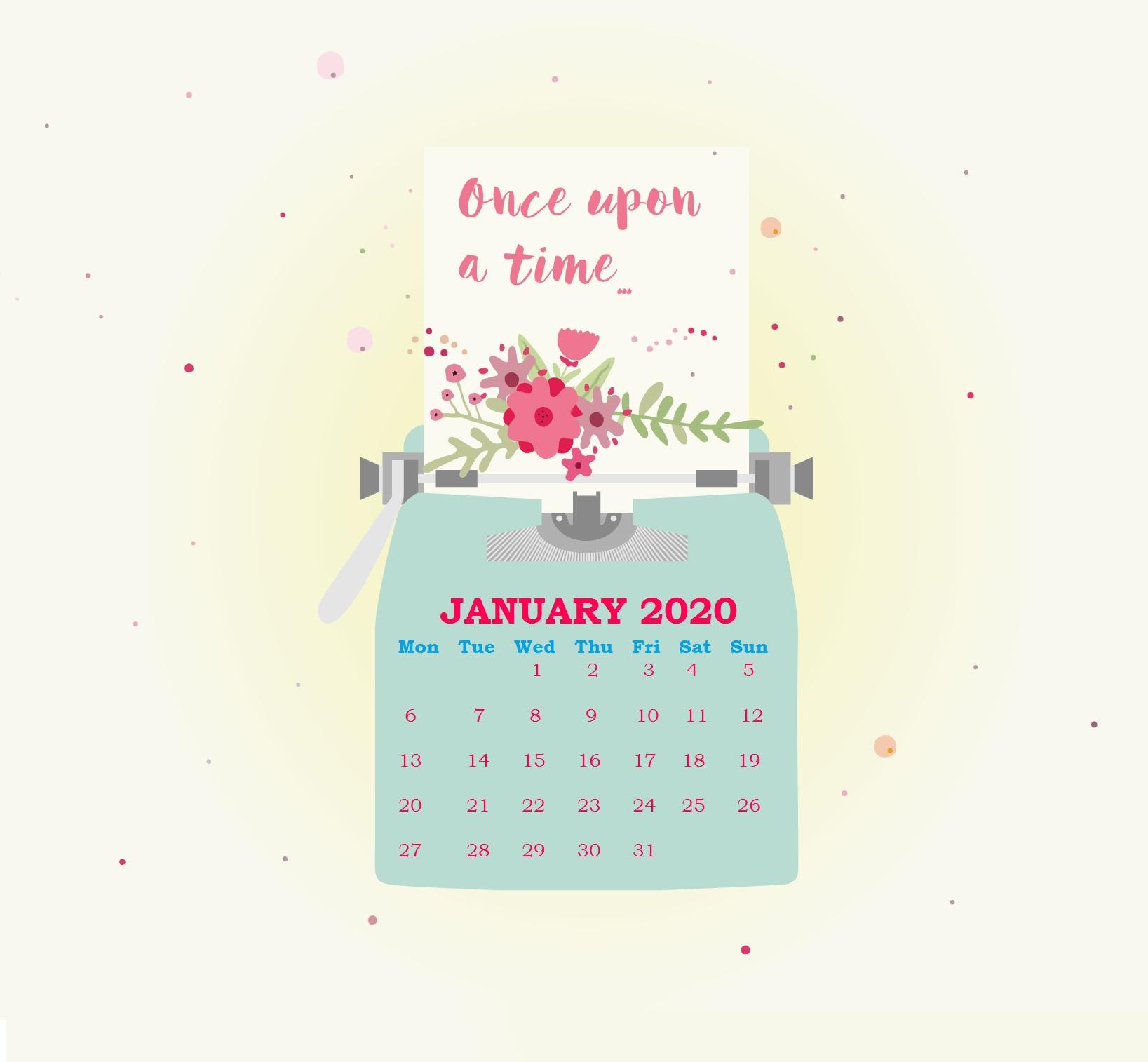 download iPhone January 2020 Wallpaper Calendar Latest 1637x1514