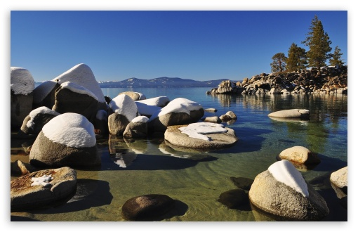 Lake Tahoe Rocks HD wallpaper for Standard 43 54 Fullscreen UXGA XGA 510x330