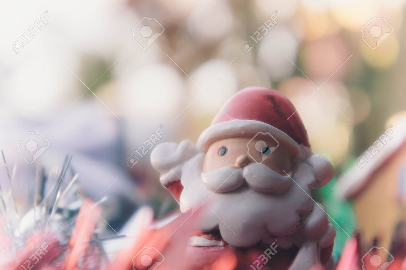 Santa Claus And Chirstmas Background Stock Photo Picture And 1300x865