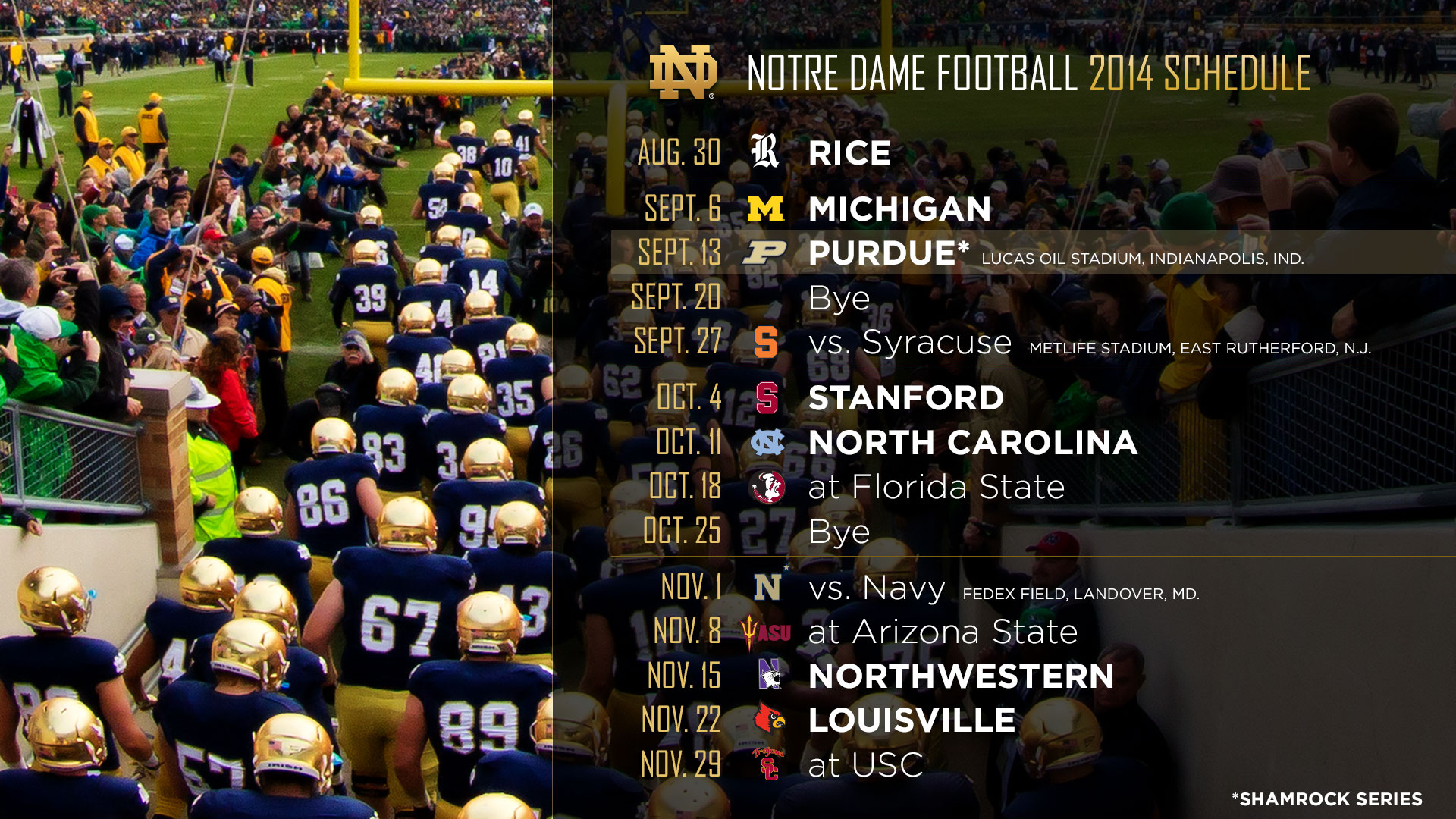 Inside The Schedules 2014 2016 Notre Dame Football Blog 1920x1080