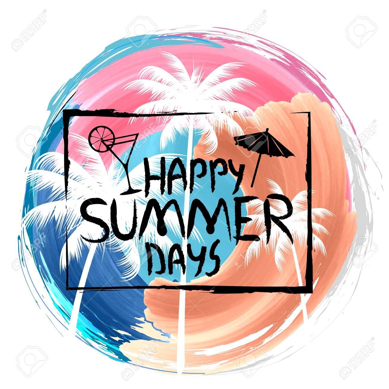 Happy Summer Days Poster Wallpaper For Fun Party Invitation 1300x1300