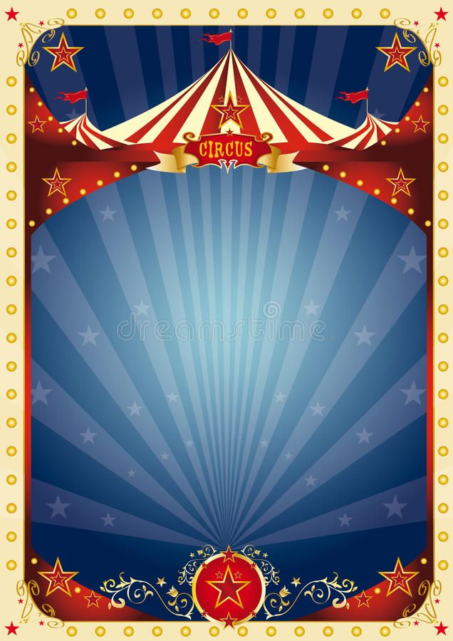 Circus blue background New circus background for a poster ad 636x900
