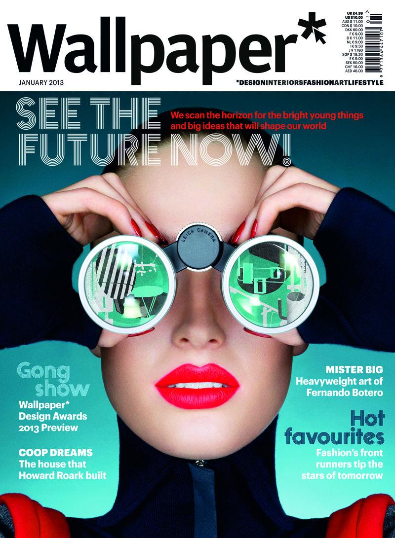 Wallpaper Magazine cover with Emma Grattidge   January 2013   ID18654 800x1091