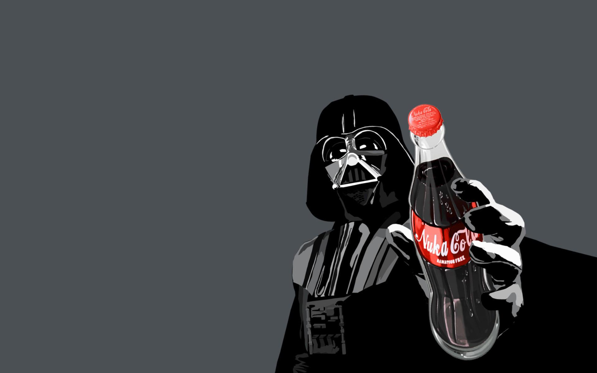 Darth Vader Nuka Cola Quantum HD Wallpaper Companies Brands 1920x1200