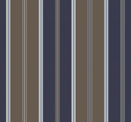 Wallpaper A wide chocolate brown and marine blue striped wallpaper 534x497