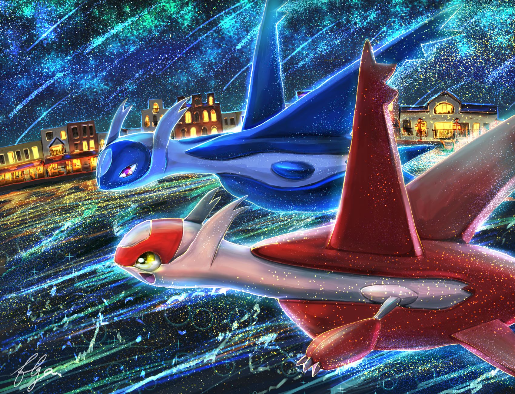 the three legendary dogs images latias and latios HD wallpaper and 1700x1300